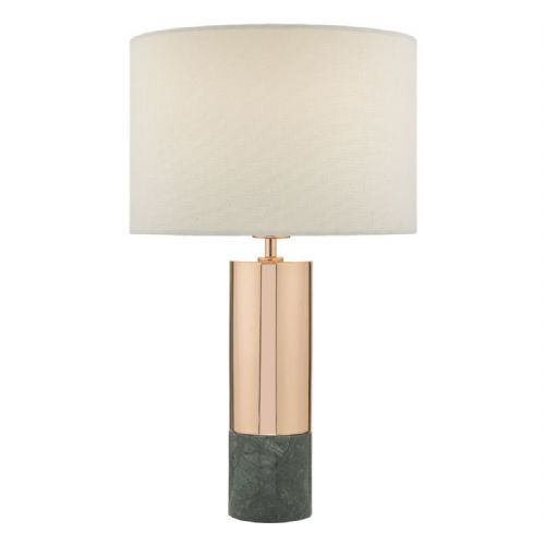 Digby Table Lamp Copper & Green With Shade DIG4264